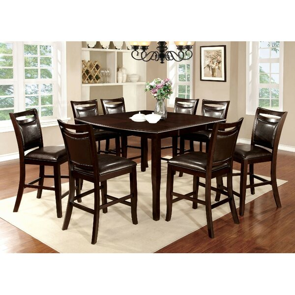 Faron 9 Piece Drop Leaf Dining Set by Darby Home Co