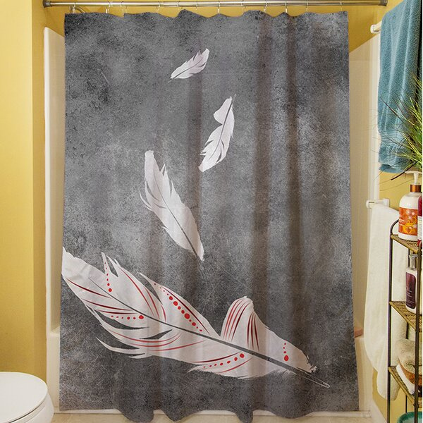 Feather Float Shower Curtain by Manual Woodworkers & Weavers