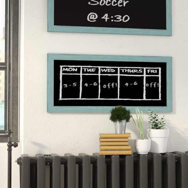 Rustic Wall Mounted Chalkboard by Laurel Foundry Modern Farmhouse