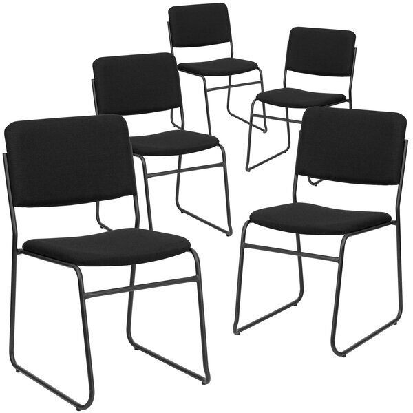 Laduke Armless Stacking Chair (Set of 5) by Symple