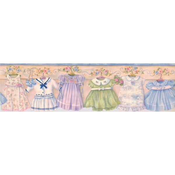 Angarano Baby Dresses on Hangers on Wall Vintage Wall Border by Zoomie Kids