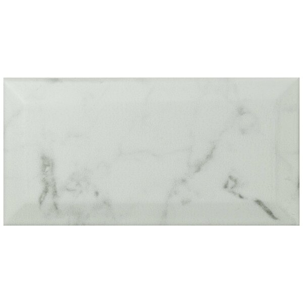 Karra Carrara 3 x 6 Ceramic Subway Tile in Matte Metro White/Gray by EliteTile