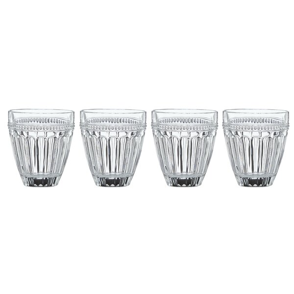 French Perle Crystal 12 oz. Double Old Fashioned Glass (Set of 4) by Lenox