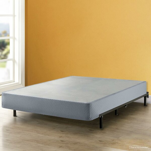 Huxley High Profile Box Spring with Heavy Duty Steel Slat Mattress Foundation Fits Standard Bed Frame by Alwyn Home