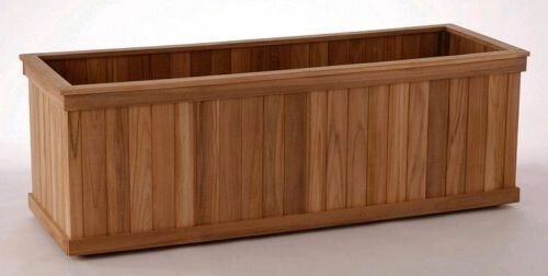 Teak Wood Planter Box by Diamond Teak