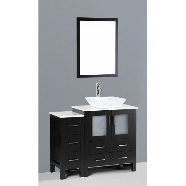 Netto 42 Single Bathroom Vanity Set with Mirror by Ebern Designs