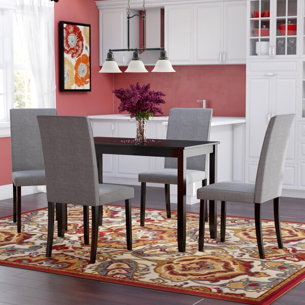 Keck 5 Piece Solid Wood Dining Set by Red Barrel Studio