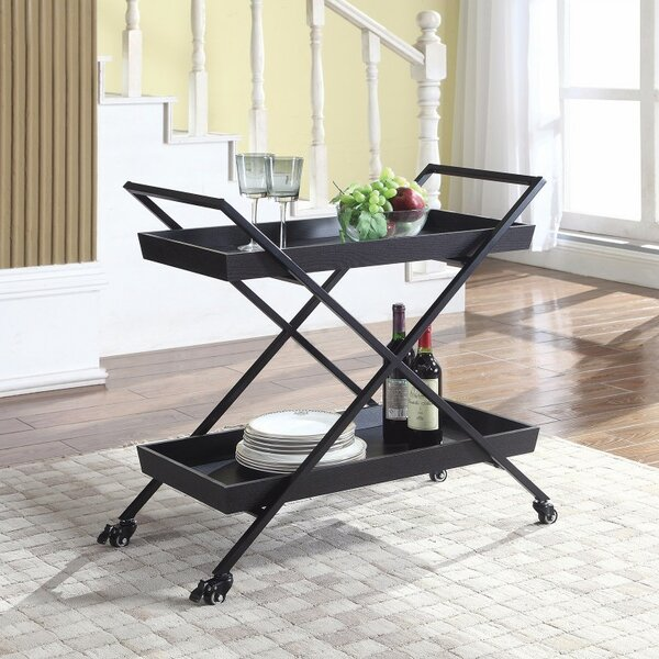 Andrewson Classic X-Frame Bar Carts by Gracie Oaks
