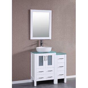 Affordable Les 36 Single Bathroom Vanity Set with Mirror ByEbern Designs