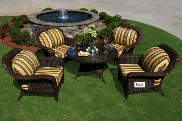 Fleischmann 5 Piece Sunbrella Conversation Set with Cushions by Darby Home Co Darby Home Co