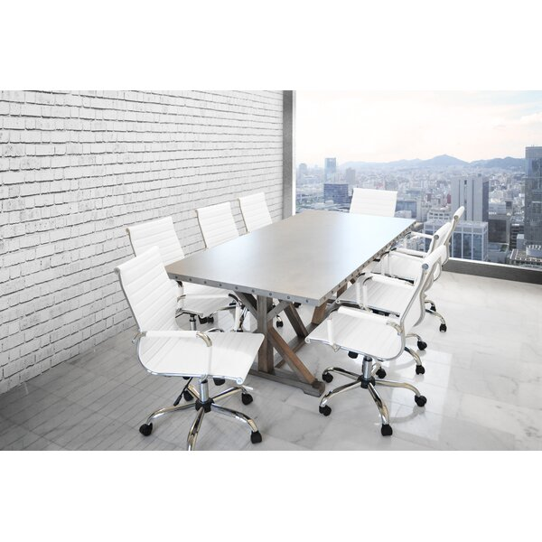 Rhead Rectangular 30H x 40W x 84L Conference Table Set by Ebern Designs