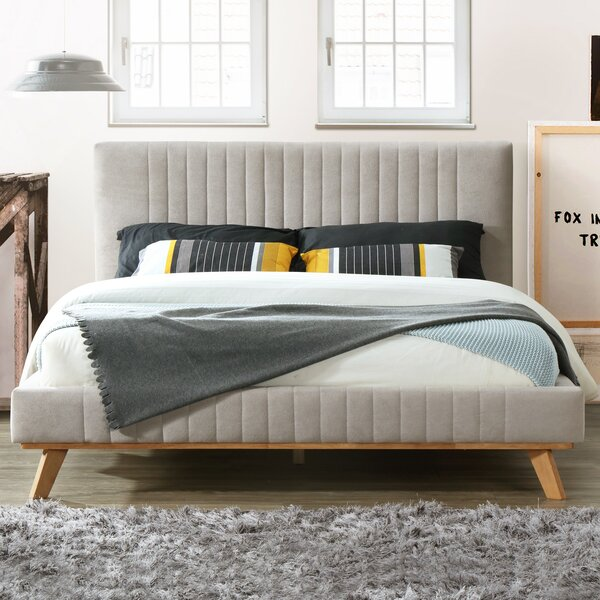 Dev Caban Queen Upholstered Platform Bed by Modern Rustic Interiors