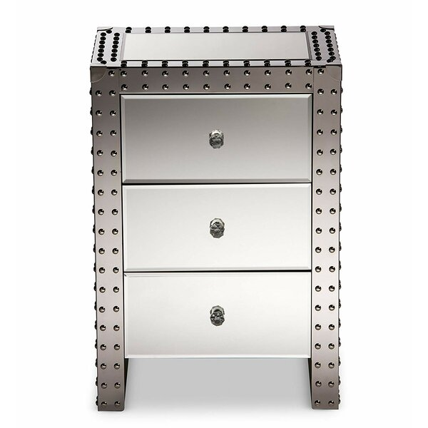 Dussault 3 Drawer Nightstand by Everly Quinn
