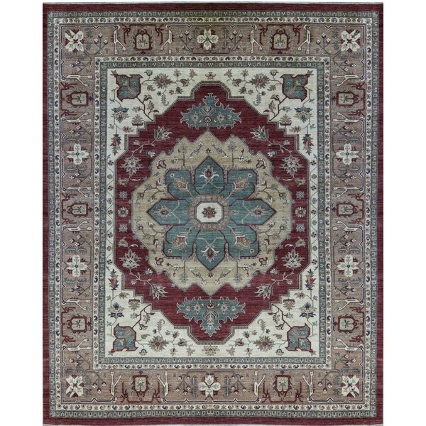 Sultanabad Hand Knotted Wool Red/Brown Rug