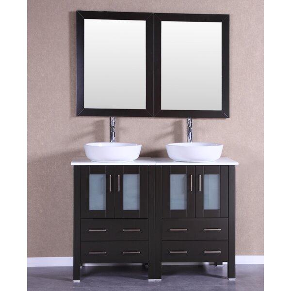 Premiere 47 Double Bathroom Vanity Set with Mirror by Bosconi