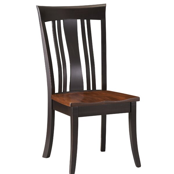 Destiny Solid Wood Slat Back Side Chair in Chocolate Brown by Red Barrel Studio Red Barrel Studio