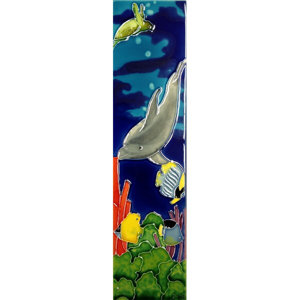 Dolphin Tile Wall Decor by Continental Art Center