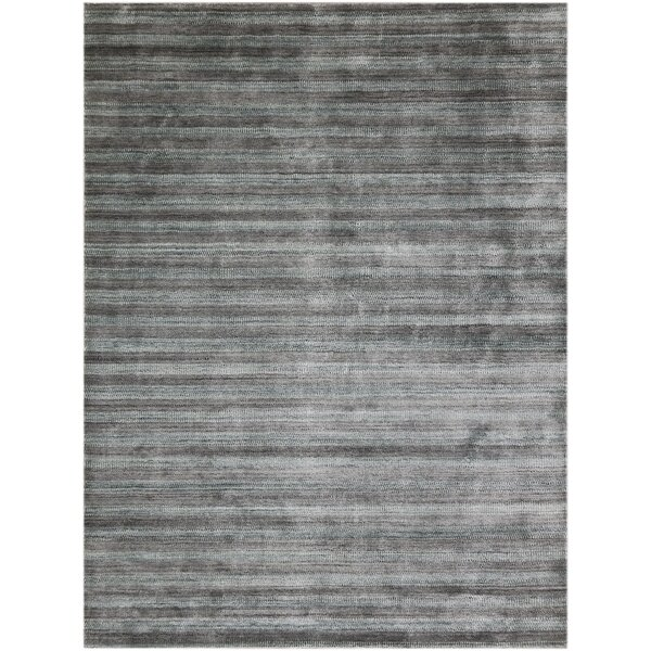 Adamsburg Hand-Woven Silver/Gray Area Rug by Latitude Run