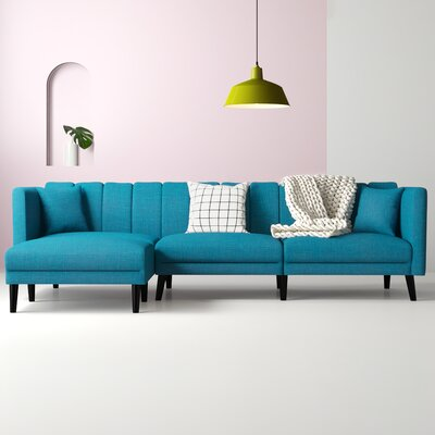 Navy Blue Sectional Sofa Wayfair