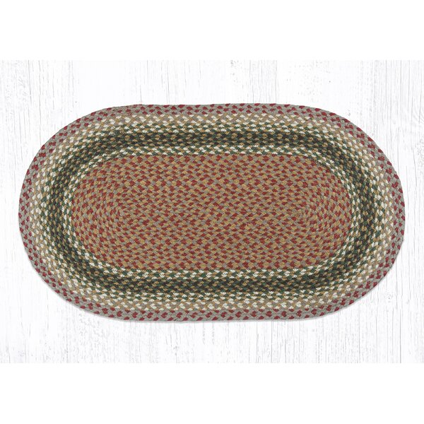 Braided Olive/Burgundy Area Rug by Earth Rugs