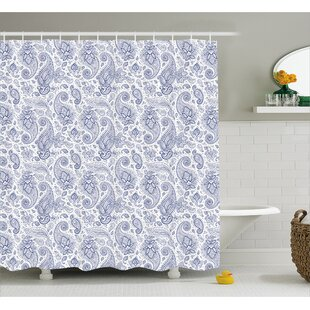 Find for Quarryville Abstract Buds and Dots Shower Curtain By Red Barrel Studio