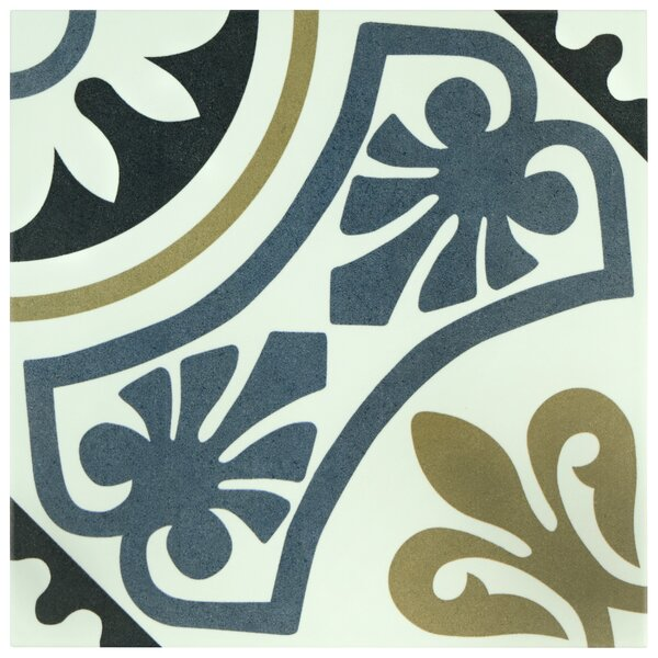 Seni Tiena 9.75 x 9.75 Porcelain Field Tile in Blue by EliteTile