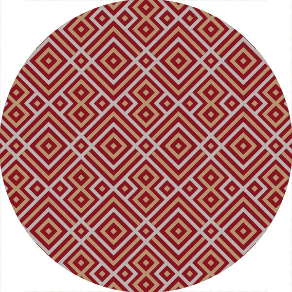Sudbury Handmade Red Area Rug by George Oliver