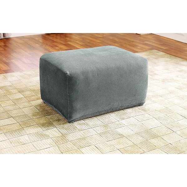 Stretch Pique Oversized Ottoman Slipcover by Sure