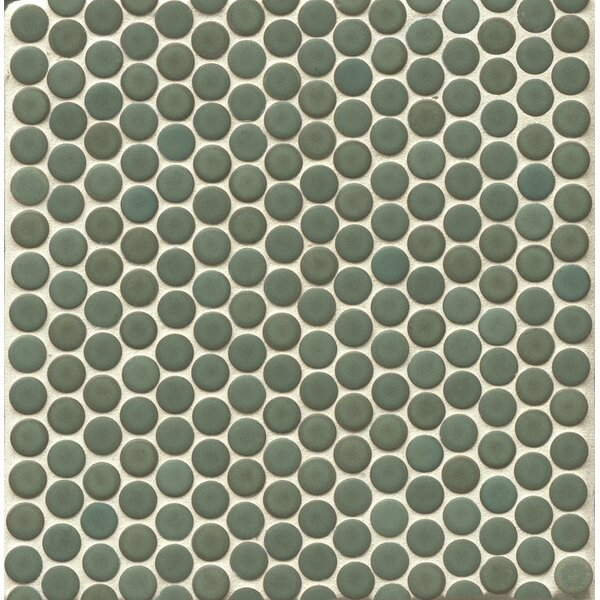 Penny Round Mosaic 12 x 12 Porcelain Tile in Dusty Sky by Grayson Martin
