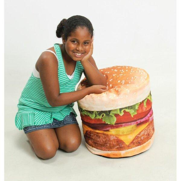Hamburger Inflatable Bean Bag Chair by Wow Works LLC