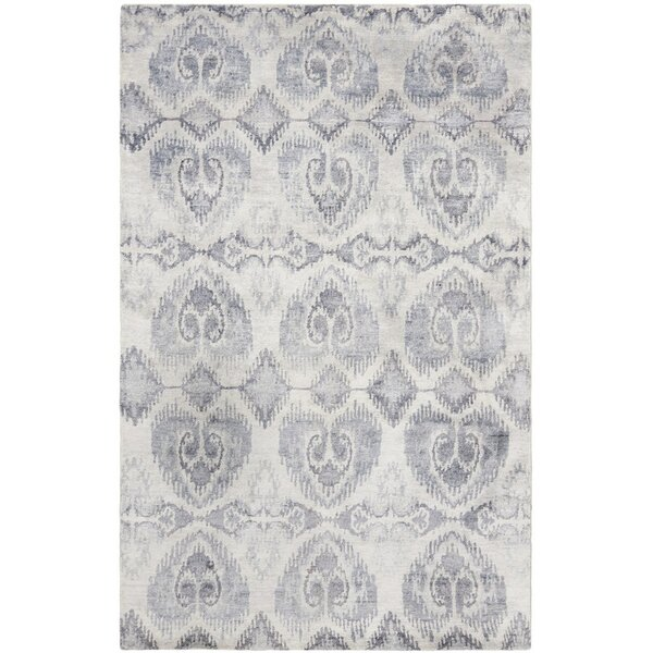 Arnav Hand-Knotted Gray Area Rug by Bungalow Rose