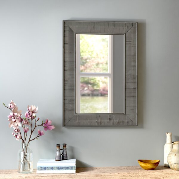 Clemmie Rectangle Rustic Wood Wall Mirror by Laurel Foundry Modern Farmhouse
