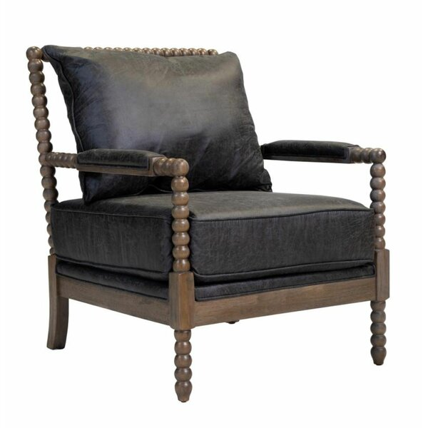 Falconet Leatherette Wooden Armchair By Bloomsbury Market