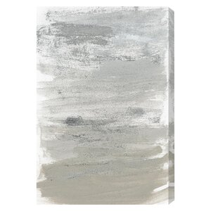 Silver Storm Painting Print on Wrapped Canvas by Latitude Run