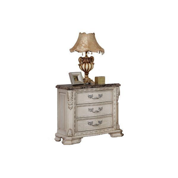 Castiel 3 Drawer Bachelors Nightstand by Astoria Grand