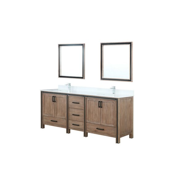 Aweis 81 Double Bathroom Vanity Set with Mirror