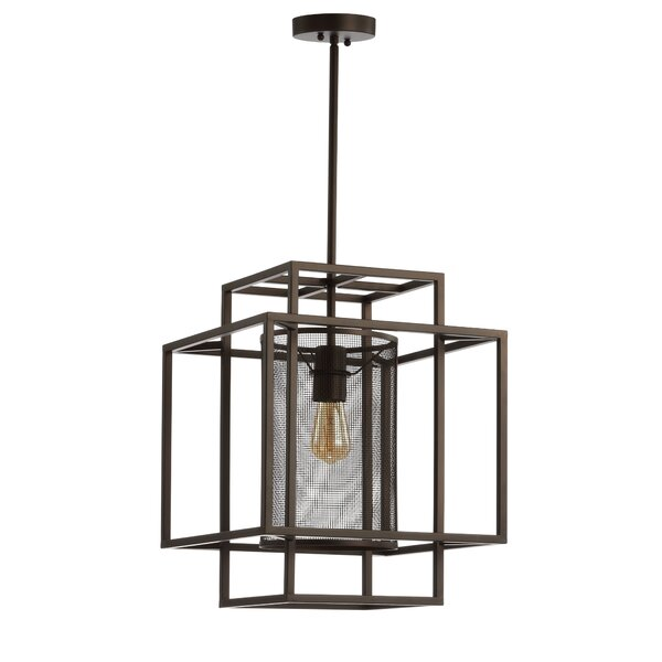 Tyra 1-Light Unique / Statement Rectangle / Square Chandelier By 17 Stories
