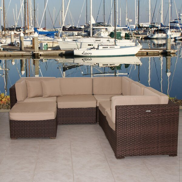 Lorentzen 6 Piece Sunbrella Sectional Set with Cushions by Brayden Studio