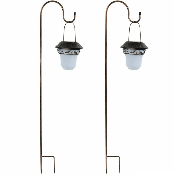 Elegant Solar Outdoor Hanging Lantern (Set of 2) by Wildon Home ®