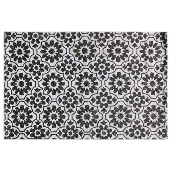 Sang Hand-Knotted Cotton Dark Gray Indoor/Outdoor Rug