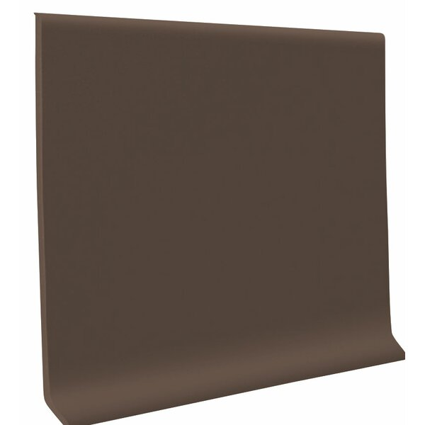 0.13 x 48 x 4 Cove Molding in Burnt Umber (Set of 30) by ROPPE