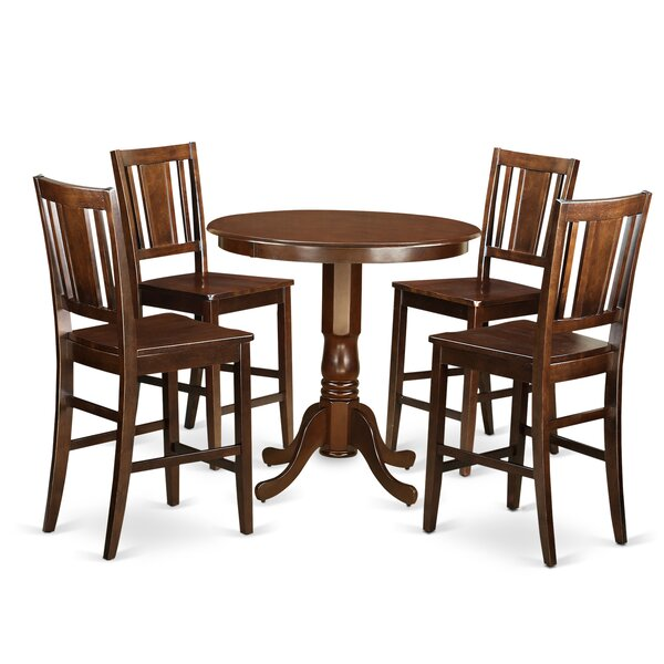 Palmateer 5 Piece Pub Table Set by Alcott Hill
