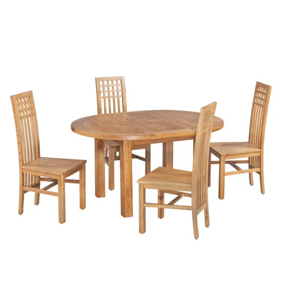Uriah 5 Piece Extendable Solid Wood Dining Set by Millwood Pines