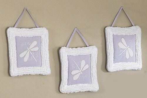 3 Piece Dragonfly Dreams Wall Hanging Set by Sweet Jojo Designs