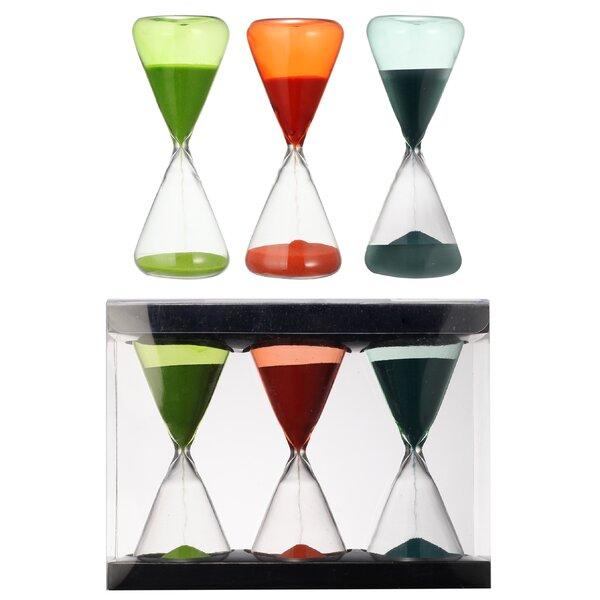 Decorative Hourglasses Gift Box (Set of 3) by Mercer41