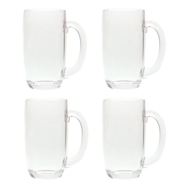 South Lamar 21 oz. Acrylic Plastic Drinking Beer Mug (Set of 4) by Latitude Run