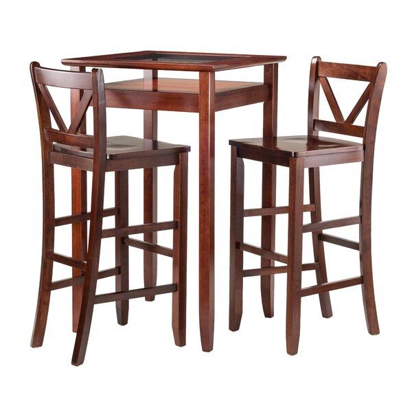 Belmont 3 Piece Pub Table Set by Alcott Hill