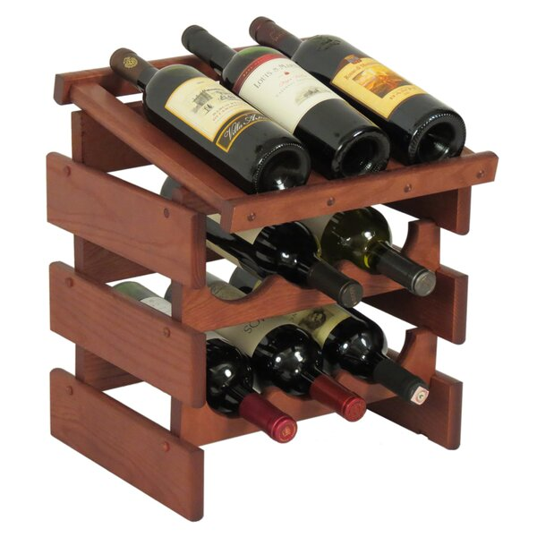 Dakota 9 Bottle Tabletop Wine Rack by Wooden Mallet