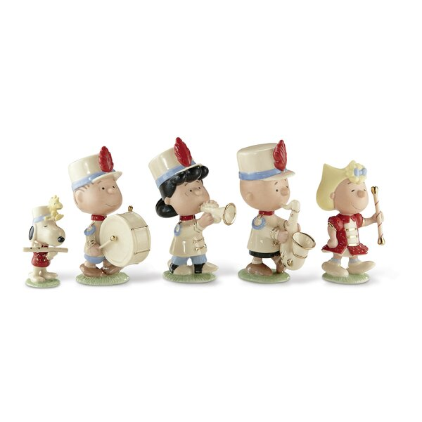 Peanuts Marching Band 5 Piece Figurine Set by Lenox