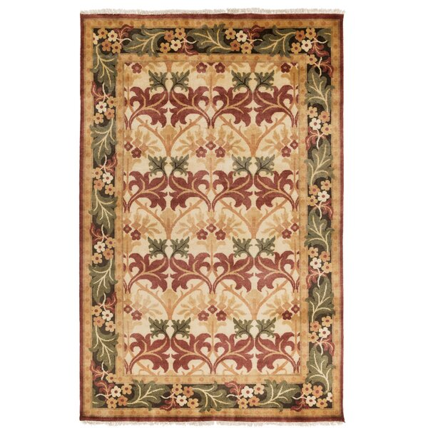 Pritchard Hand Knotted Beige Area Rug by Darby Home Co